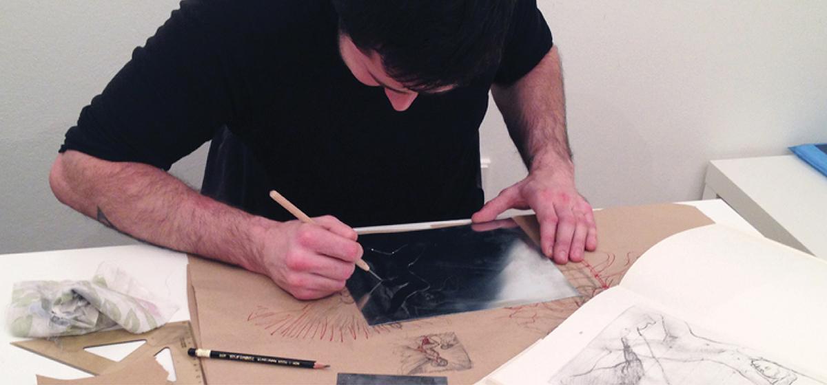 Grafika Sucha Jehla Linoryt Atelier 45